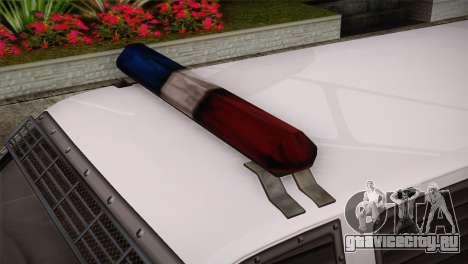 GTA 5 Police Transporter для GTA San Andreas вид справа