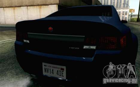 GTA 5 Cheval Fugitive HQLM для GTA San Andreas вид сзади