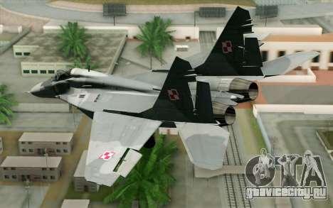 MIG-29 Polish Air Force для GTA San Andreas вид слева