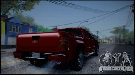 Chevrolet Silverado 1500 HD Stock для GTA San Andreas вид справа