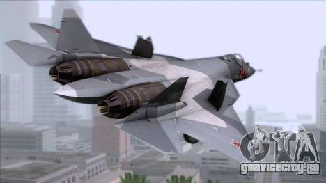 Sukhoi T-50 PAK FA Akula для GTA San Andreas вид слева