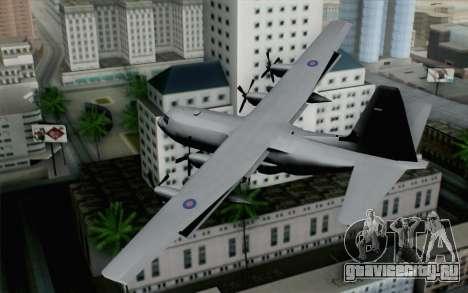 C-130H Hercules RAF для GTA San Andreas вид слева
