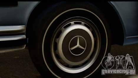 Mercedes-Benz 300 SEL 6.3 (W109) 1967 HQLM для GTA San Andreas вид сзади