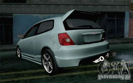 Honda Civic Type R для GTA San Andreas вид слева