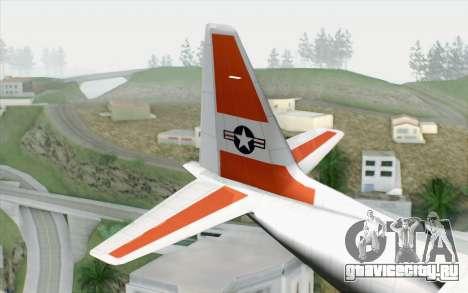 C-130H Hercules Coast Guard для GTA San Andreas вид сзади слева