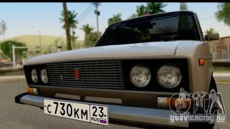 ВАЗ 2106 Low Classic для GTA San Andreas вид сзади слева