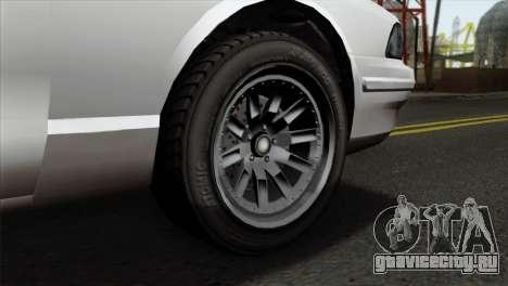 GTA 5 Vapid Stanier II SA Style для GTA San Andreas вид сзади слева