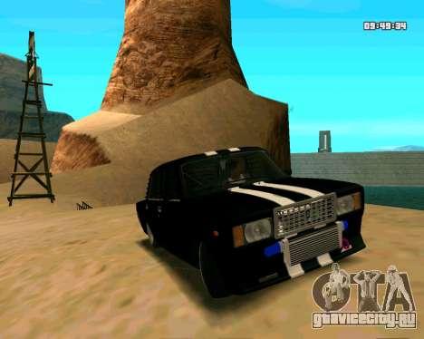 ВАЗ 2107 КОРЧ для GTA San Andreas вид сбоку