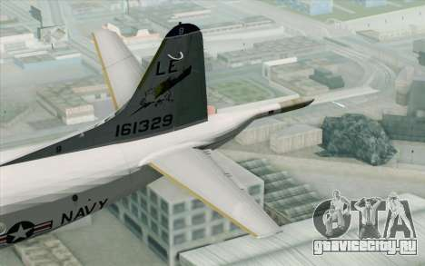 Lockheed P-3 Orion VP-11 US Navy для GTA San Andreas вид сзади слева
