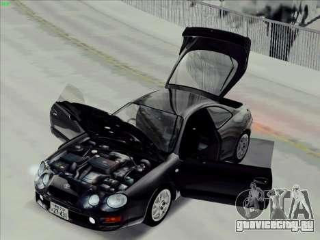 Toyota Celica GT-FOUR (ST205) для GTA San Andreas вид сзади слева