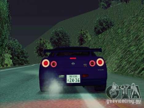 Nissan Skyline GT-R V-Spec (BNR34) для GTA San Andreas вид справа