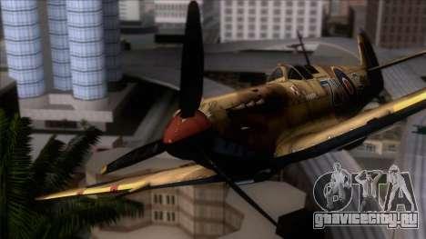 Stanislaw Skalski Supermarine Spitfire MK IXC для GTA San Andreas вид сзади
