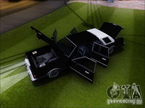 New Virgo для GTA San Andreas вид сзади