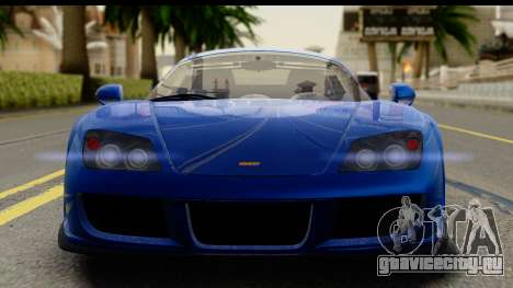 Noble M600 2010 IVF АПП для GTA San Andreas вид сзади слева