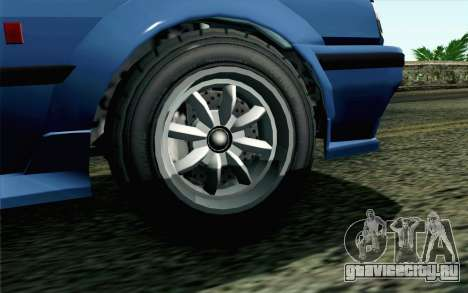 GTA 5 Karin Futo SA Mobile для GTA San Andreas вид сзади слева