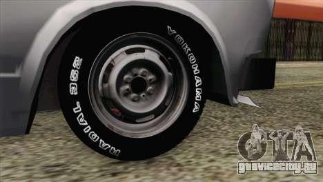 ВАЗ 2107 БК для GTA San Andreas вид сзади слева