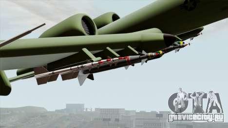 A-10 Warthog Shark Attack для GTA San Andreas вид справа