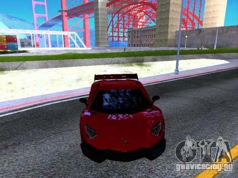 Lamborghini Aventador Novitec Torado для GTA San Andreas вид изнутри