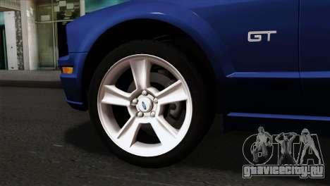 Ford Mustang GT PJ Wheels 1 для GTA San Andreas вид сзади слева