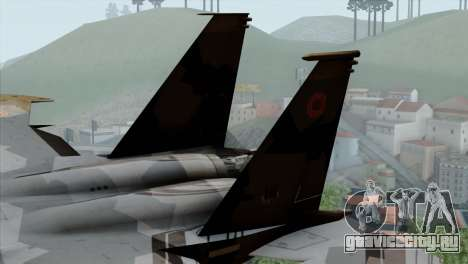F-15E Yellow Squadron для GTA San Andreas вид сзади слева