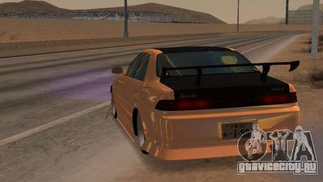 Toyota Mark II для GTA San Andreas вид сзади