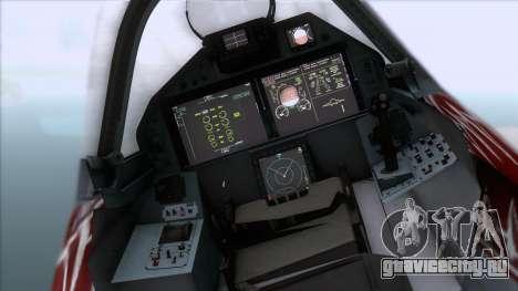 Sukhoi T-50 PAK FA Akula with Trinity для GTA San Andreas вид справа