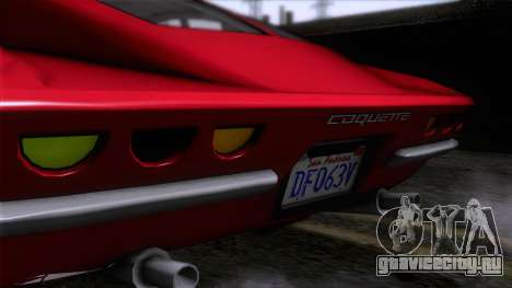 GTA 5 Invetero Coquette Classic HT для GTA San Andreas вид сзади