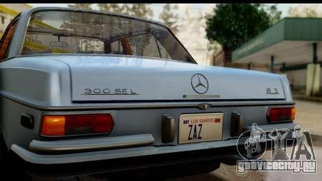 Mercedes-Benz 300 SEL 6.3 (W109) 1967 HQLM для GTA San Andreas вид справа