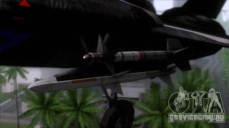 F-14 Neon Blue Macross Frontier для GTA San Andreas вид сзади