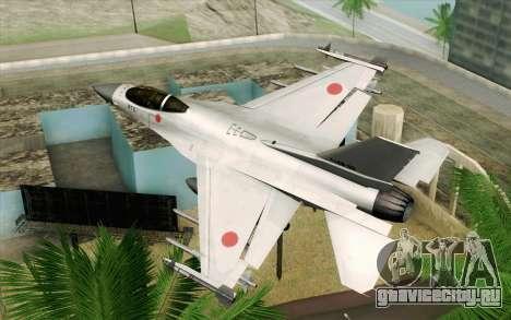 Mitsubishi F-2 Original JASDF Skin для GTA San Andreas вид слева