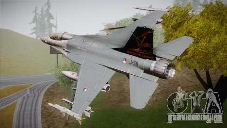 F-16 Fighting Falcon 60th Anniv. of Volkel AFB для GTA San Andreas