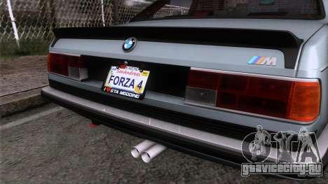 BMW M635 CSi 1984 Stock для GTA San Andreas вид сзади