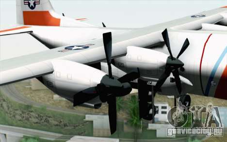 C-130H Hercules Coast Guard для GTA San Andreas вид справа