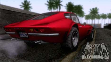 GTA 5 Invetero Coquette Classic HT для GTA San Andreas вид слева