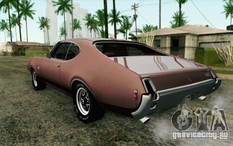 Oldsmobile 442 Holiday Coupe 1969 HQLM для GTA San Andreas вид слева