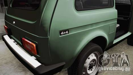 ВАЗ 2121 для GTA San Andreas вид сзади