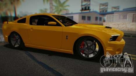 Ford Shelby GT500 2013 Vossen version для GTA San Andreas вид слева