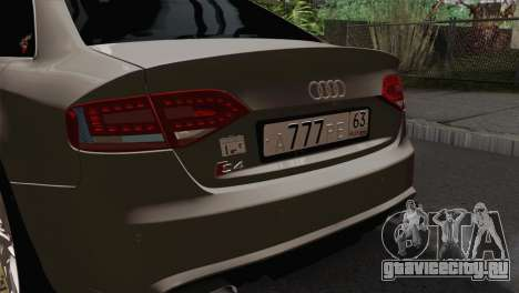 Audi S4 Sedan 2010 для GTA San Andreas вид сзади
