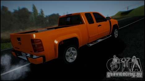 Chevrolet Silverado 1500 HD Stock для GTA San Andreas двигатель