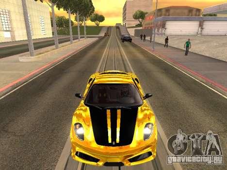 Ferrari F430 для GTA San Andreas вид сзади слева