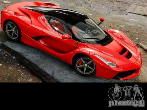 Ferrari Laferrari для GTA 4 вид изнутри