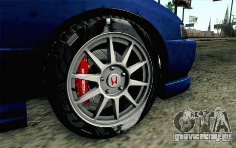 Honda Integra Type R 2000 Stock для GTA San Andreas вид сзади слева