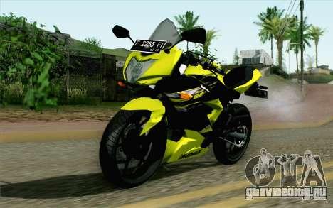 Kawasaki Ninja 250RR Mono Yellow для GTA San Andreas
