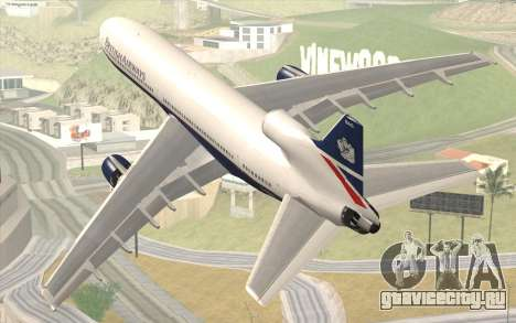 Lookheed L-1011 British Airways для GTA San Andreas вид слева
