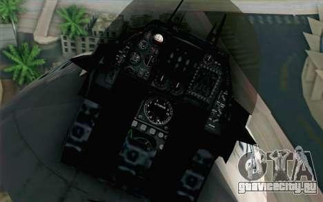 Mitsubishi F-2 White JASDF Skin для GTA San Andreas вид сзади