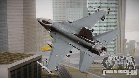 F-16 Fighting Falcon RNLAF для GTA San Andreas вид слева