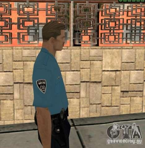 Israeli Police Officer для GTA San Andreas третий скриншот