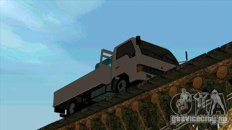 Mitsubishi Fuso Canter 1989 With Crane для GTA San Andreas вид слева
