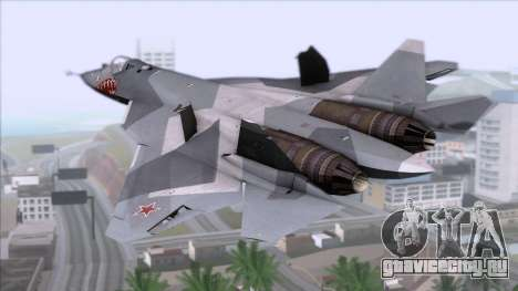 Sukhoi T-50 PAK FA Akula with Trinity для GTA San Andreas вид слева