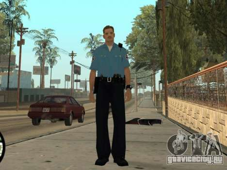 Israeli Police Officer для GTA San Andreas пятый скриншот